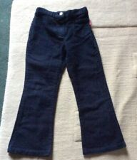 ELLE Girls 100% Cotton Navy Trousers Age 6