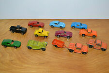 Vintage TOOTSIETOY Metal Car Lot Utility Trailer PORSCHE Trucks