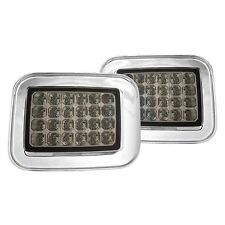 New Platinum Smoke LED Front Park Signal Light Pair FOR 2003-2008 Hummer H2