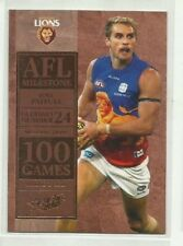 2012 AFL SELECT CHAMPIONS BRISBANE LIONS JOEL PATFULL MILESTONE MG5 CARD