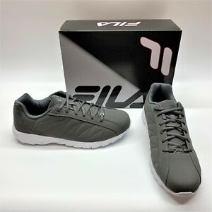 Fila Sagora 1CM00144 Pewter Gray White Cross Trainer Sneakers Shoes Mens 14