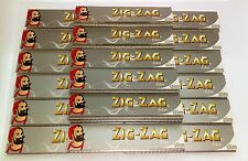 20 PACKETS of ZIG ZAG SILVER KING SIZE SLIM ROLLING PAPERS - 32 Leaves per pack