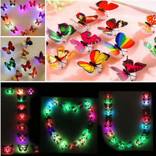 Glowing 3D Butterfly LED Wall Sticker Light Lamp Home Kids Room Bathroom Decor