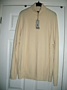 M&S X/LARGE EXTRA FINE LAMBSWOOL LONGLINE JUMPER POLO NECK