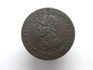 DUKE OF WELLINGTON PENINSULAR - HALFPENNY 1/2d COPPER TRADE TOKEN COIN (SX01)