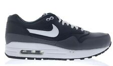 low priced 560c5 91ddc Nike Air Max 1 Leather - Black White Dark Gray Sneakers (654466 001