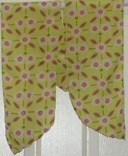 TERRIART Citron, Pink Daisies Crepe-Like 54x6 Sash/Long Scarf-Vintage