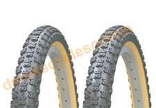 "Duro Old Skool Retro Black With Amber Wall Comp 3 Tread BMX 20"" X 2.125 Tyre"