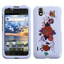 For Alltel LG Ignite HARD Protector Case Snap on Phone Cover Wisteria Flowers
