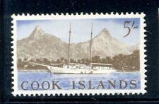 COOK ISLANDS 158 SG173 MH 1963 5sh Definitive Raratonga Ship Cat$13