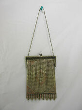 Vintage Whiting and Davis Metal Mesh Flapper Style Purse - Painted but faded