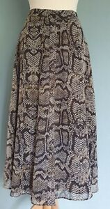 Massimo Dutti Animal Print A Line Fully Lined Button Down Skirt  Size 10(EUR 38)