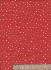 Red White Tiny Star nautical americana patriotic cotton craft Fabric