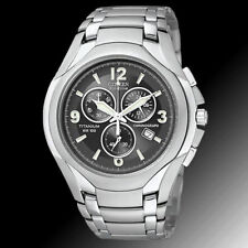 Citizen AT0940-50E TITANIUM 100 METERS Chronograph  Men's Watch  Free Shipping
