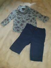 Boys 3-6 Months Party Smart suit floral polo Shirt & trausers Outfit bundle Next