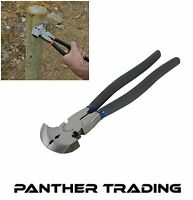 Silverline Heavy Duty Fencing Pliers Nailing Cutting & Gripping Soft Grip - PL50