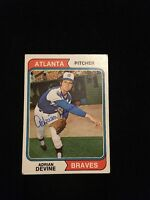 ADRIAN DEVINE 1974 TOPPS Autograph Signed AUTO Baseball Card 614 BRAVES