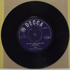"LULU : HE DON'T WANT YOUR LOVE ANYMORE 7"" Vinyl Single 45rpm Excellent"
