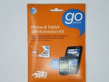 AT&T Prepaid Activation Kit 4G LTE 3 in 1 SIM Card for Standard Micro Nano NEW