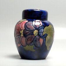 Vintage Moorcroft Pottery Clematis Covered Ginger Jar - Ginger Pot - PT