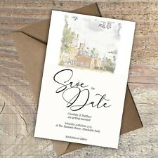 """Personalised Wedding Save the Date """"Your Venue image on the card""""  packs of 10"""
