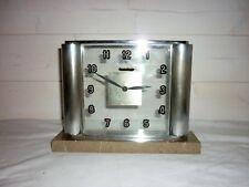 Jaeger Lecoultre rare Pendulette de bureau à colonne art déco 1940 8 jours Clock