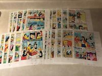Veronica #82 original art color guides 22 PAGES Archie BASKETBALL Betty 1998