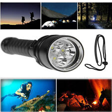 8000Lumen 3 LED Diving 18650 Flashlight Torch Brightly Lamp Max 100M