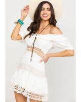 Free People Women's White Cruel Intentions Mini Dress Size 10