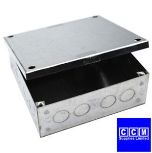 GALVANISED ADAPTABLE BOXES WITH KNOCKOUTS ALL SIZES AVAILABLE