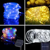 100 LED 12M Solar Power String Fairy Light Rope Tube Lamp Garden Yard Xmas Party