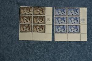 1953 UPU Inscription Block Set - N17-18 - MNH
