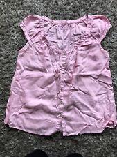 John Lewis Pink Linen Top Size 12 (e1)