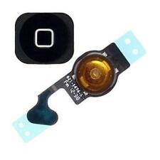 New Black Replacement Home Button Flex + Button For Iphone 5 5G (5pcs)