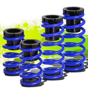 """FOR 91-99 3000GT GTO FRONT+REAR RACING/DRIFT COILOVER 0-3""""LOWERING SPRING BLUE"""