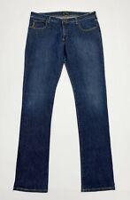 Armani jeans donna usato W32 tg 46 comfort fit slim denim blu boyfriend T5519