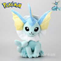Vaporeon Plush Soft Toy Character Stuffed Animal Doll Teddy Sitting 14""