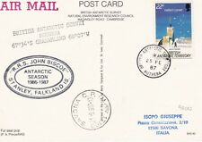 British Antarctic Territory - post card from Rothera Station 1987