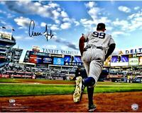 "Aaron Judge New York Yankees Signed 16"" x 20"" Running Out of Dugout Photo"