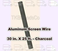 NEW YORK WIRE 13518 60/'/' x 100/'  CHARCOAL  ALUMINUM WINDOW SCREEN WIRE 6084636