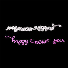 Happy New Year Metal Cutting Dies Stencil Diy Scrapbooking Embossing Paper Card@