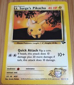 Pikachu 84/132 Common - Gym Challenge  - 2000 - Pokemon - Englisch - Mint