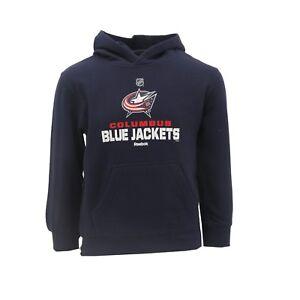 Columbus Blue Jackets Official NHL Reebok Youth Kids Size Hooded Sweatshirt New