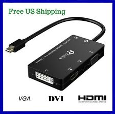 4-in-1 Thunderbolt Mini DisplayPort DP to HDMI DVI VGA Adapter Cable Converter