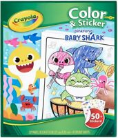 Crayola Color & Sticker Pinkfong Baby Shark Book 32 page & 50+ Stickers