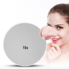 BioSwiss 10X Magnifying Compact Mirror w/2 Suction Cups, Make-up ShavingTweezing