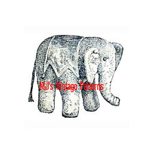 VERY OLD 1905 Antique Vintage Stuffed Elephant Toy Pattern