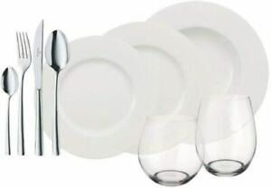 Villeroy & Boch Dinner Set WW 36 Piece Porcelain Plate & Soup Dining Set