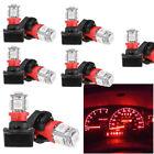 10pcs T10 Smd 194 Led Bulb For Instrument Gauge Cluster Dash Light W Sockets