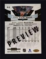 2019-20 UD O-Pee-Chee OPC Platinum Preview #P-2 Erik Karlsson - San Jose Sharks